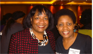 Debbie Ariyo OBE with MP Diane Abbott